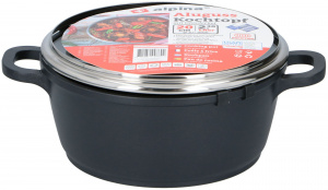 Alpina cooker with glass lid 20 cm