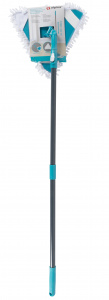Alpina telescopic mop 115 - 150 cm 570 gram grey/blue