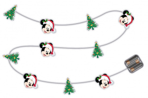 Arditex lichtsnoer Mickey Mouse warm wit 10 leds 165 cm wit