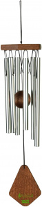 Art Bizniz wind chime 35 cm aluminium/wood silver