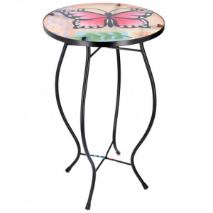 Arti Casa mosaic table butterfly multicolor 30x30x54 cm