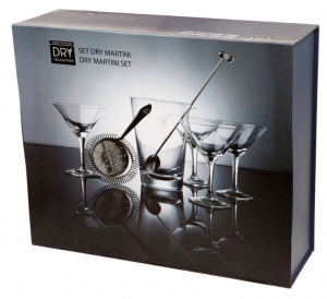 Balvi Martini cocktailset Dry Collection RVS/glas 7-delig