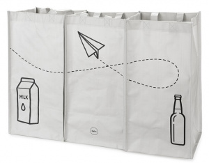 Balvi recycle shoppers 43 x 66 cm grey 3 pieces