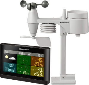 Bresser weather Comfort 5-in-1station 20.2 cm black 3-part