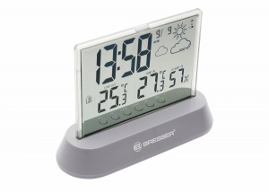 Bresser weather station Translucidus 14 x 10.5 x 5 cm grey