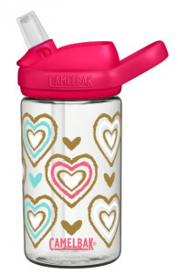 CamelBak drinkfles Eddy+ Hearts junior 400 ml roze