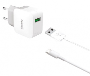 Celly chargeur USB-C 230V 100 cm blanc