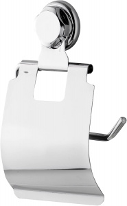 Compactor toilet roll holder 15 x 23 cm steel silver