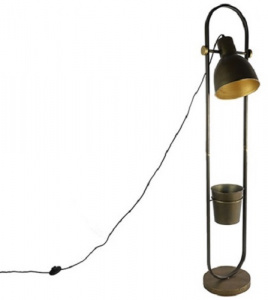 Countryfield staande lamp Marcello 27,5 x 26 x 141,5 cm staal brons
