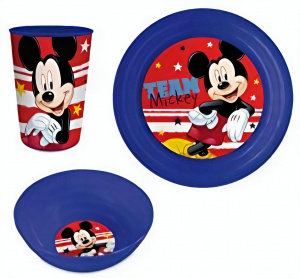 Disney serviesset Disney junior blauw/rood 3-delig