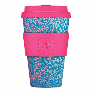 Ecoffee Cup beker Miscoso Dolce bamboe/siliconen 400 ml fuchsia
