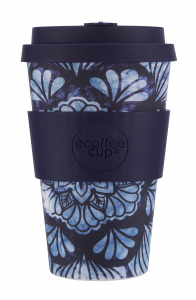 Ecoffee Cup koffiebeker Whence the Fekawi? 400 ml bamboe blauw