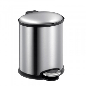 EKO pedal bin Ellips6 litres stainless steel chrome