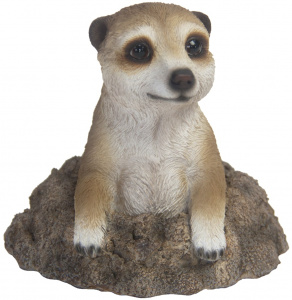 Esschert Design meerkat 13,9 x 13,3 cm polyresin brown