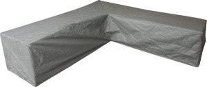 Eurotrail protective cover corner bench 300x300x100 cm SFS grey