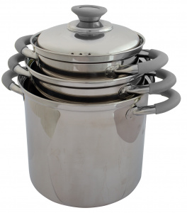 Eurotrail cookware set 1Roma,6/2,3/6,3 litres steel silver 3-piece