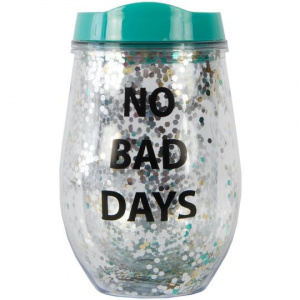 Fisura becher No bad days 6 x 12 cm PVC grün