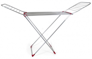 Gerimport drying rack 185 x 120 cm aluminium silver/red
