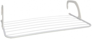 Gerimport drying rack 4 m steel white