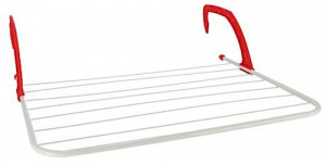 Gerimport drying rack 7 m steel 63 x 50 cm white/red