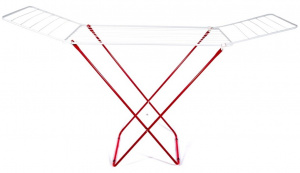 Gerimport drying rack Aalborg 182 x 108 cm steel white/red