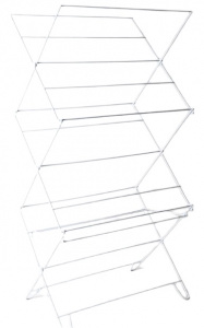 Gerimport drying rack Blake 107 x 54 cm aluminium silver