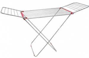 Gerimport drying rack Matteus 180 x 92 cm stainless steel silver/red