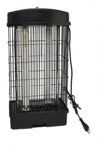 Gerimport electric fly trap 23 x 48,5 cm steel black