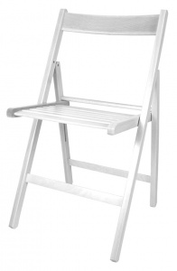 Gerimport folding chair 87 x 42 x 38 cm wood white