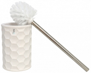 Gerimport toilet brush with holder Moby 41.5 cm ceramic white