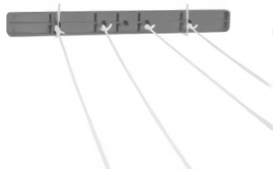 Gerimport romi clothes line 3.66 m white/grey