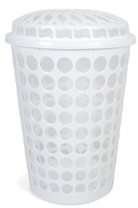 Gerimport laundry basket 43,5 x 63 cm white