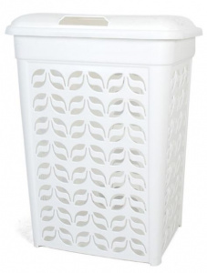 Gerimport laundry basket 46 x 64 cm white