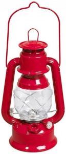 Guillouard olielamp Lucile 14 x 30 cm staal/glas rood