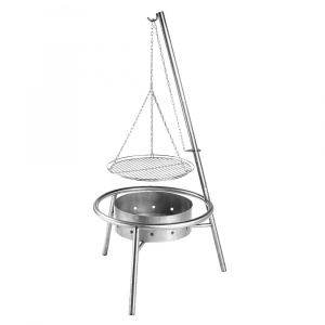Haba barbecue 74,5 x 33,5 cm Edelstahl silber