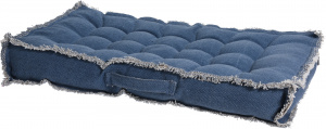 Home & Styling outer cushion 35 x 70 x 8 cm cotton/polyester blue