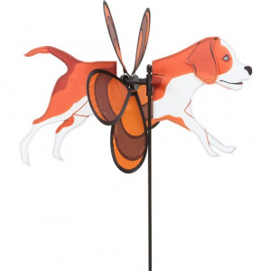Invento garden spike dog 44 x 63 cm brown/white