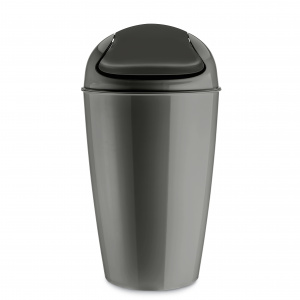 Koziol swivel lidded container DEL XL 30 litres dark grey