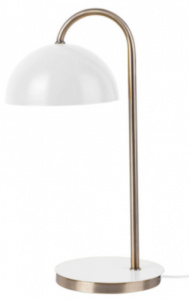 Leitmotiv leeslamp Dome 36,5 x 14 cm staal wit/goud