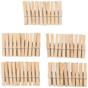 Lifetime Clean clothes pegs 7,2 cm wood brown 100 pieces