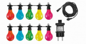 Luxform feestverlichting Maui 10-lamps led 10 meter