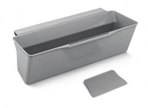 Metaltex kitchen waste bin Clean-Tex 35 x 16 x 13 cm polypropylene grey
