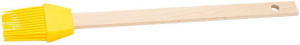 Patisse baking brush 27 cm silicone / wood yellow 2-piece