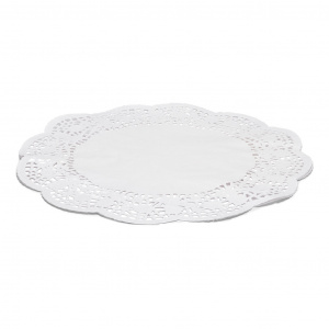 Patisse cake edges round 36 cm paper white 6 pieces