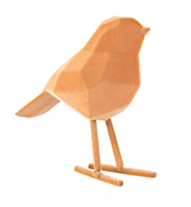 Present Time beeld Origami Bird Small 17 cm polyresin bruin