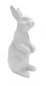 Present Time beeld Origami Bunny Standing 17 cm polyresin wit