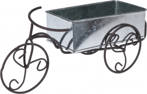 Pro Garden flower box bicycle black 25x15 cm