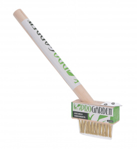 Pro Garden weed brush with handle 36 cm wood brown