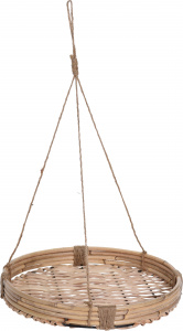 Pro Garden flower pot holder 30,5 x 4 cm rattan brown