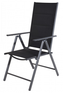 Pro Garden folding chair 54 x 107 cm alu/polyester anthracite